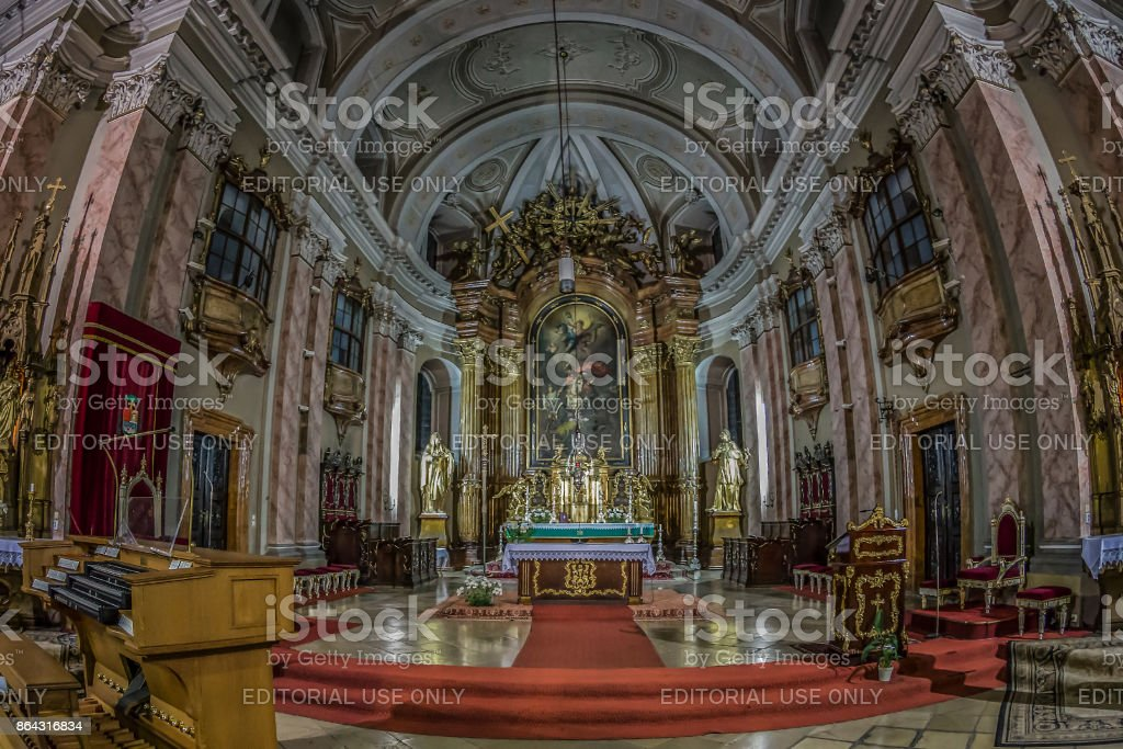 Interior of Timisoara german Dom stock photo