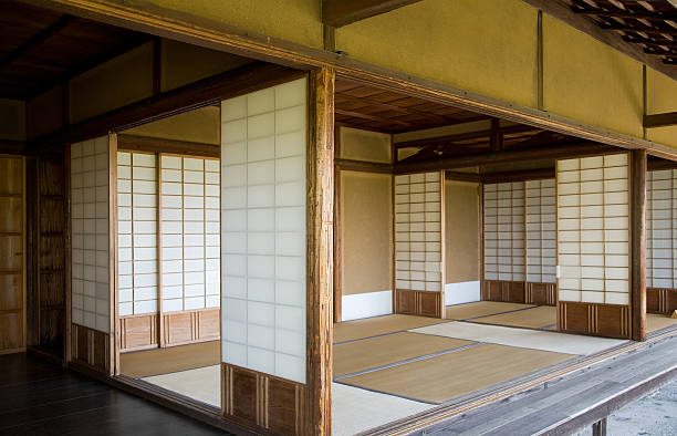 Interior of Traditional Japanese Residence stock photo