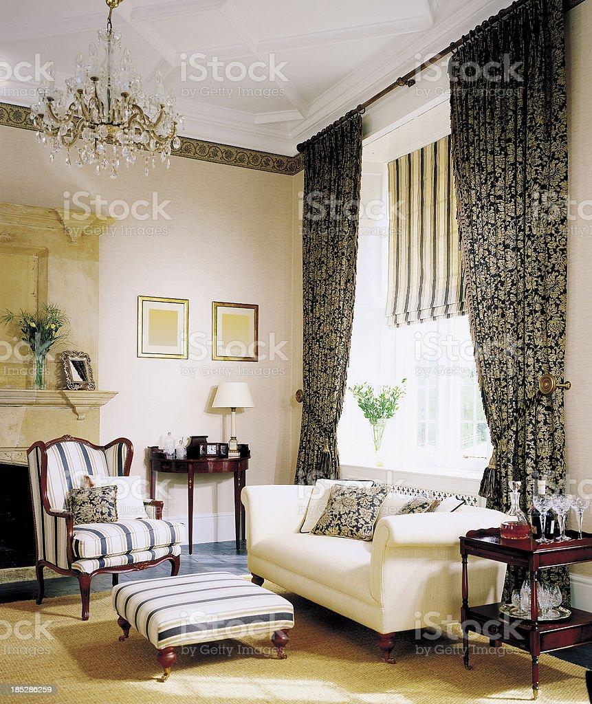 Interior of traditional Livingroom stock photo