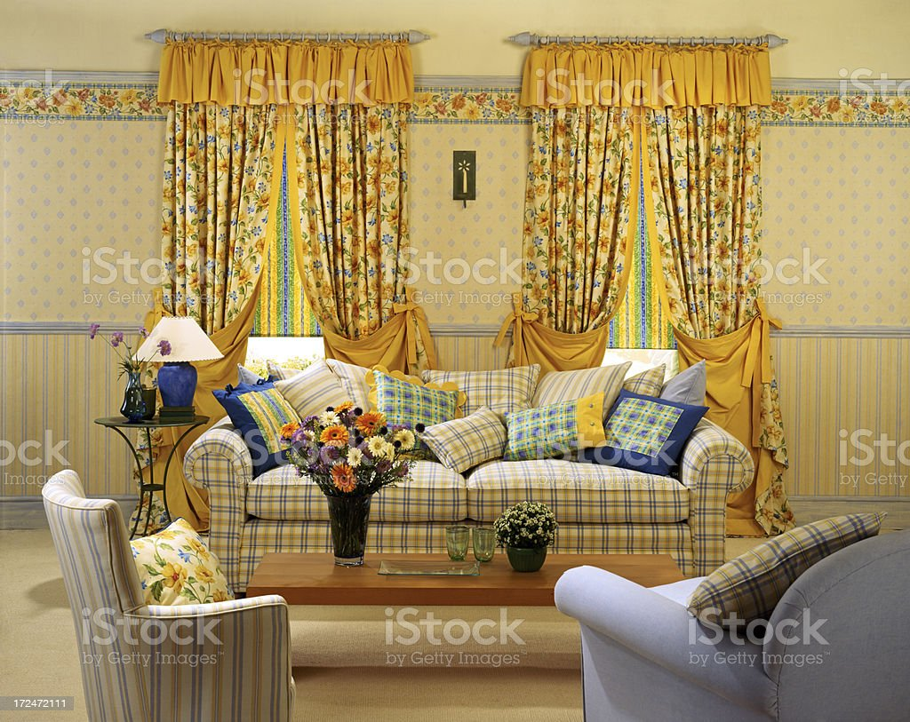 Interior of traditional lounge royalty-free stock photo