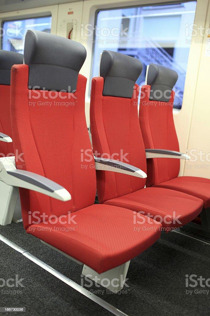 Interior of train royalty-free stock photo
