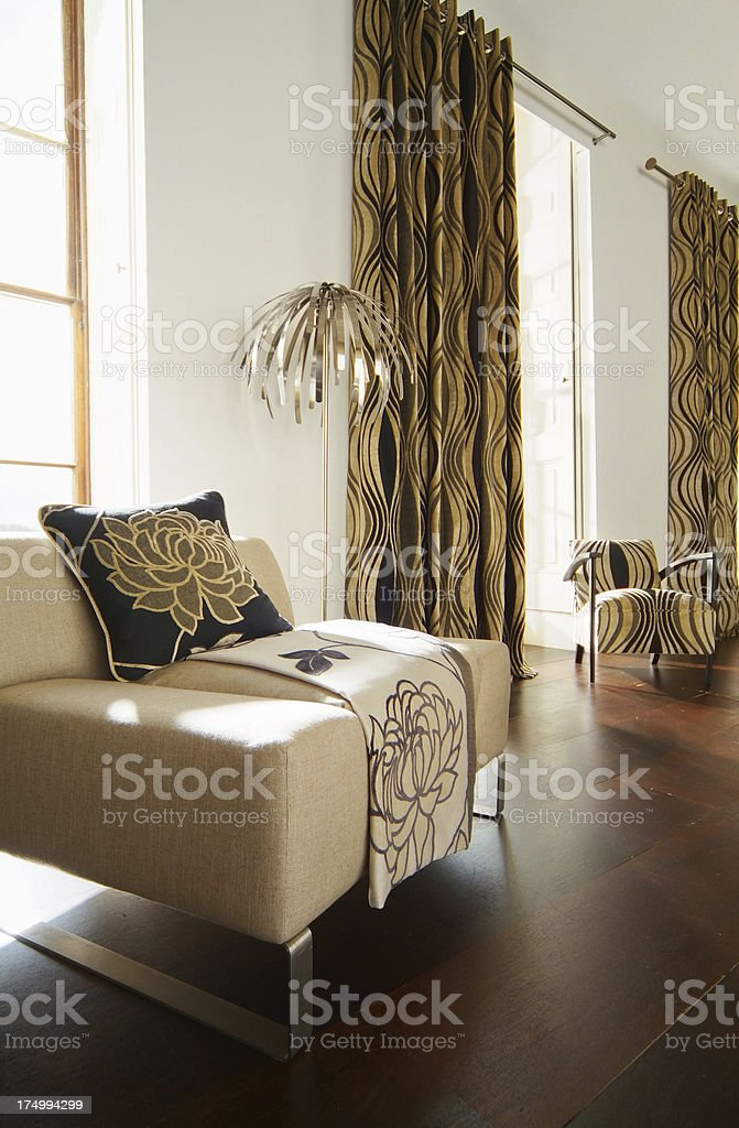 Interior of trendy chairs in  contemporary living room stock photo