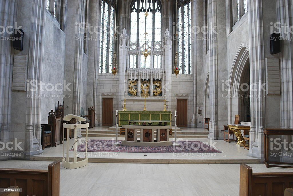 Interior of Trinity College chapel in Toronto royalty-free stock photo