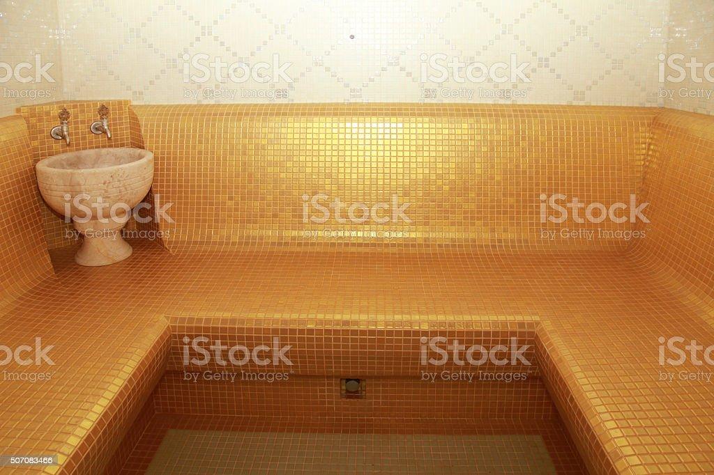 Interno di bagno turco classico hammam turco fotografie stock e