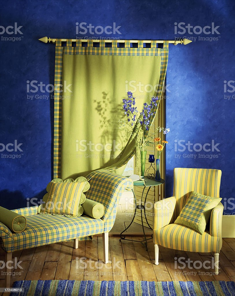 Interior of two chairs in livingroom stock photo