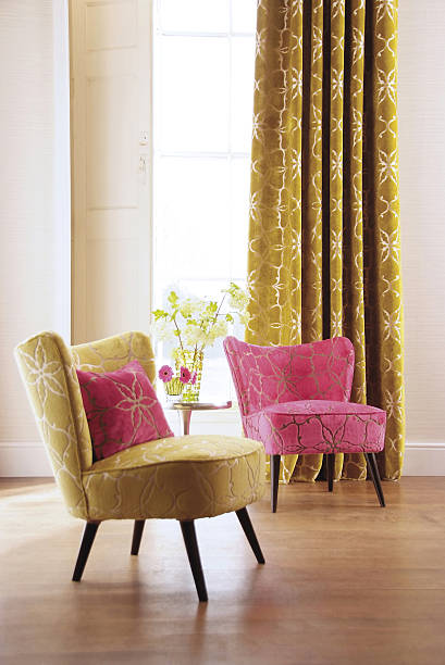 Interior of two chairs in room - foto stock
