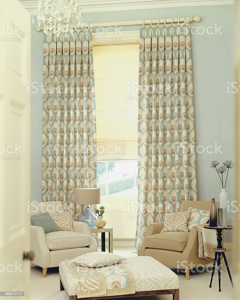 Interior of two contemporary chairs in living room royalty-free stock photo
