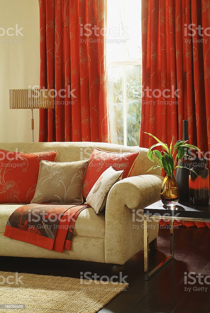 Interior of two seater sofa in a living room royalty-free stock photo
