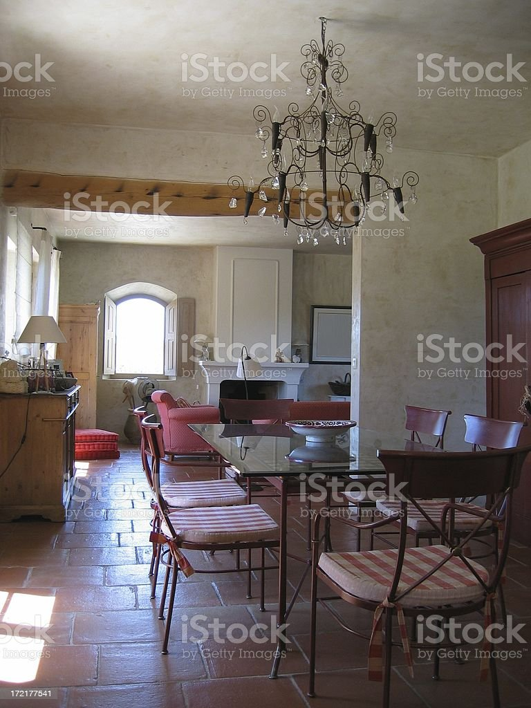 Interior of typical house in Provence royalty-free stock photo