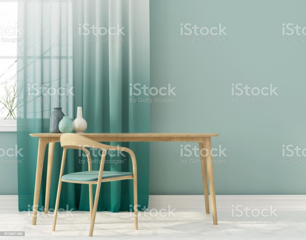 Interior of workplace stock photo
