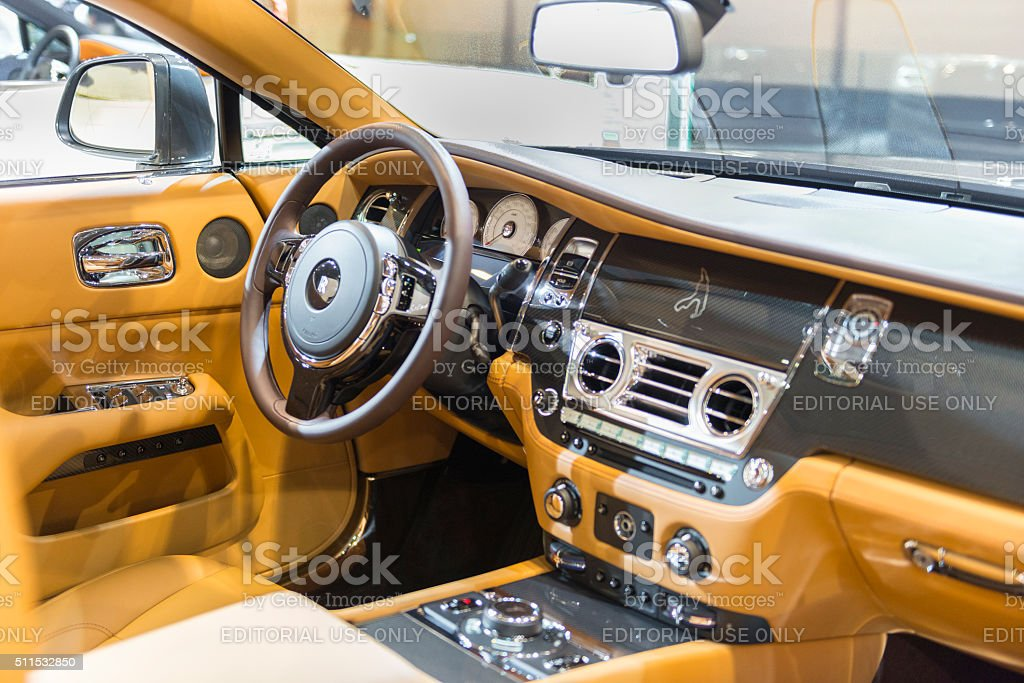 Interior On A Rolls Royce Wraith Luxury Coupe Car Stock Photo More