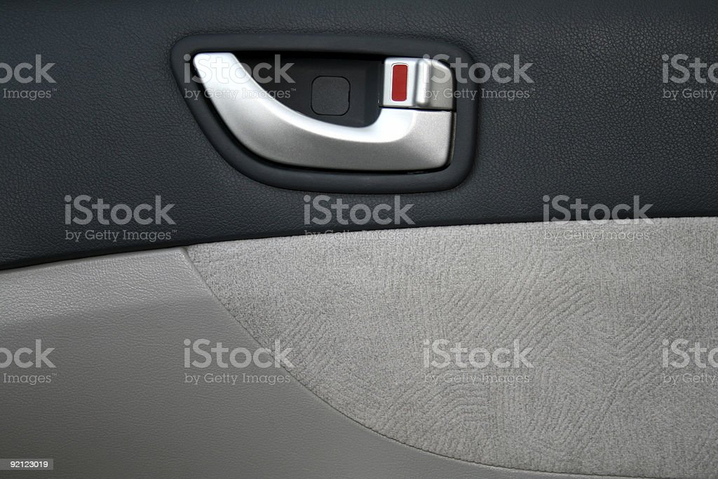 Interior panel of the car door royalty-free stock photo
