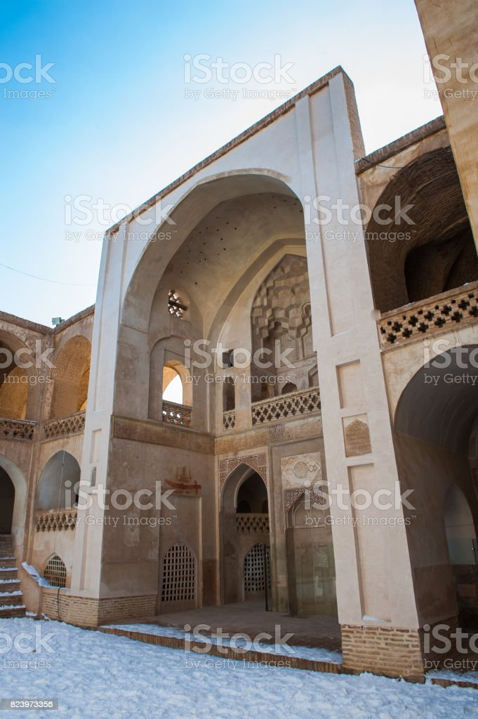 Interior part of the Jameh Mosque in Natanz stock photo