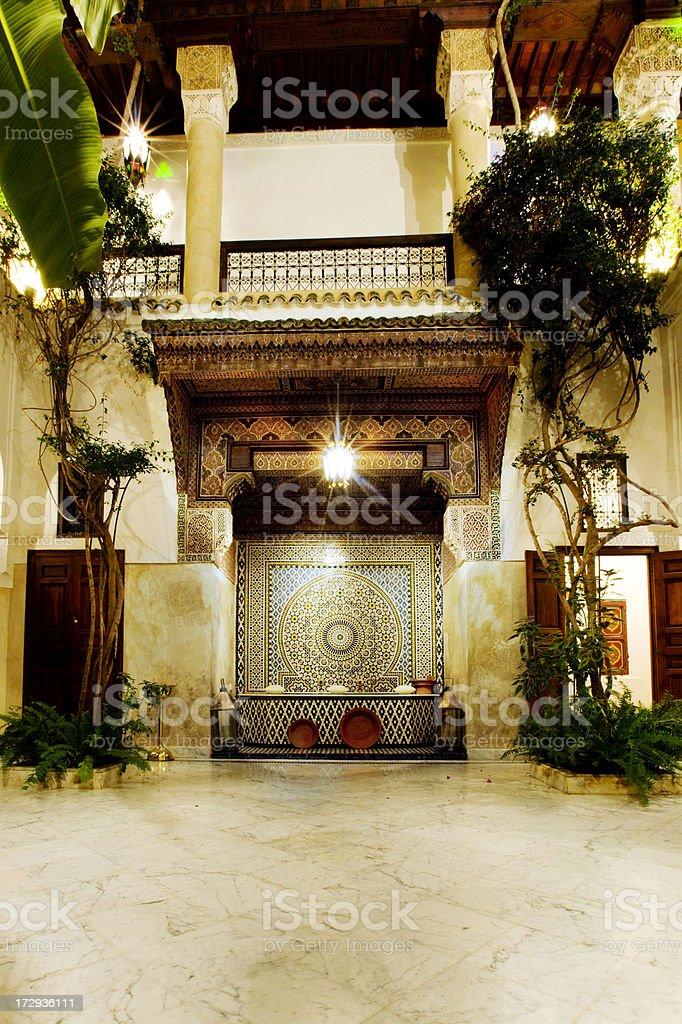 Interior patio royalty-free stock photo