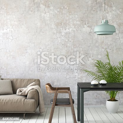 istock Interior picture template wall background 648050486