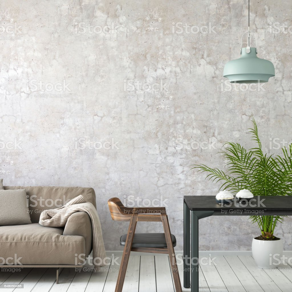 Interior picture template wall background stock photo