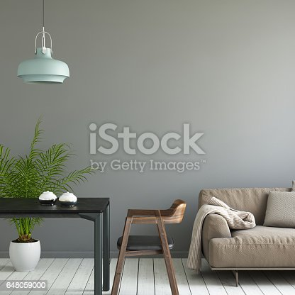 istock Interior picture template wall background 648059000