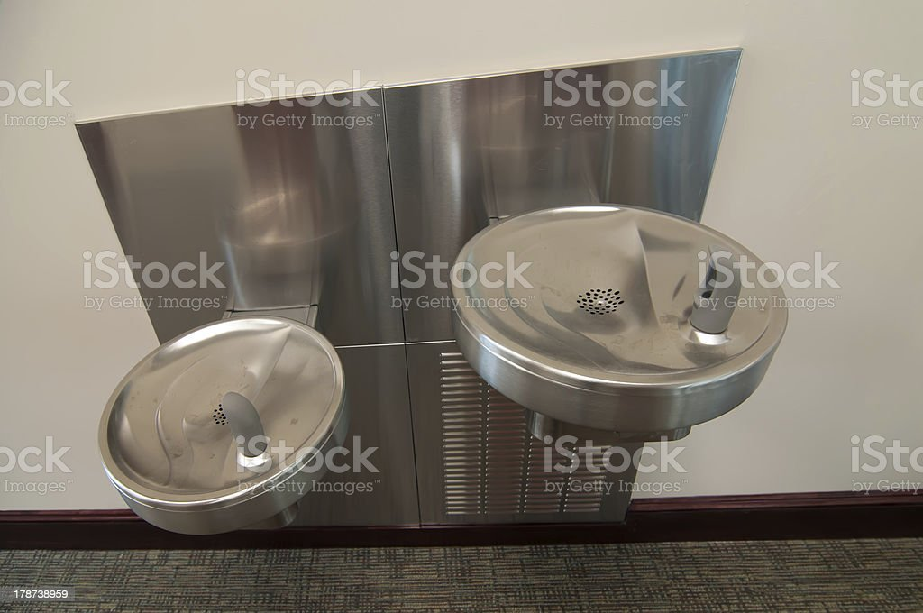 interior public water bubbler stock photo