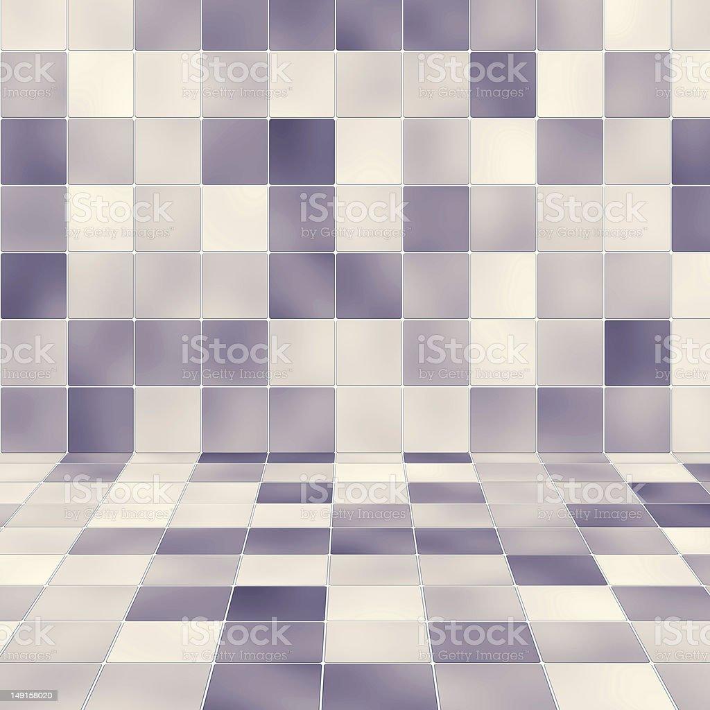 Interior purple tiled wall stock photo