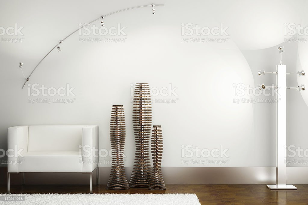 Interior render (CGI) royalty-free stock photo