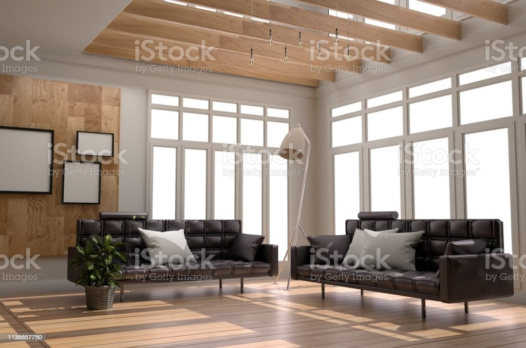 Interior Room Design Living Room White Scandinavian Style 3d Rendering Stock Photo Download Image Now Istock