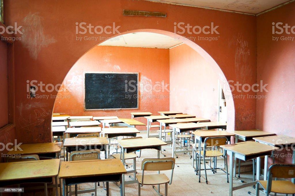 Interior School in Africa stock photo