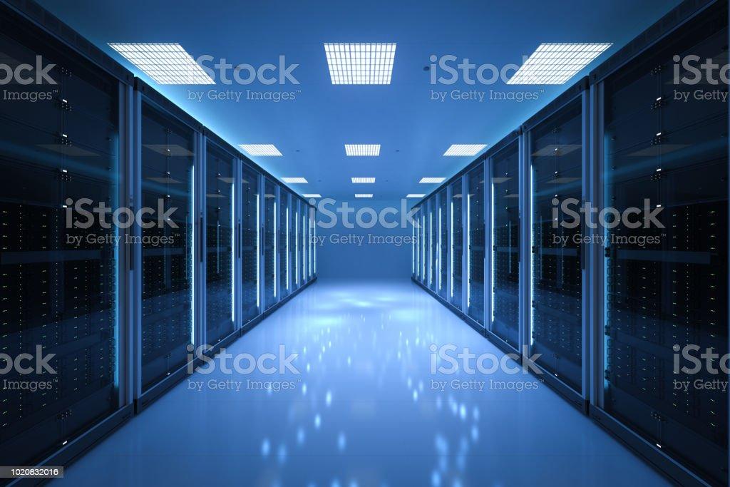 interior server room stock photo