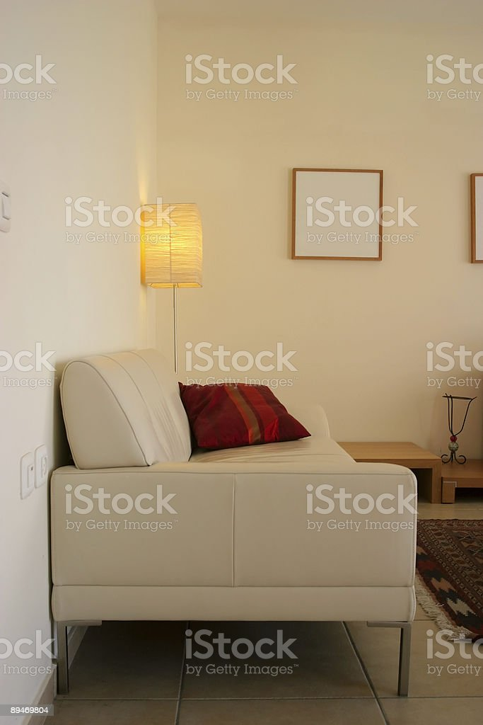Interior: Sofa and Lamp royalty-free stock photo