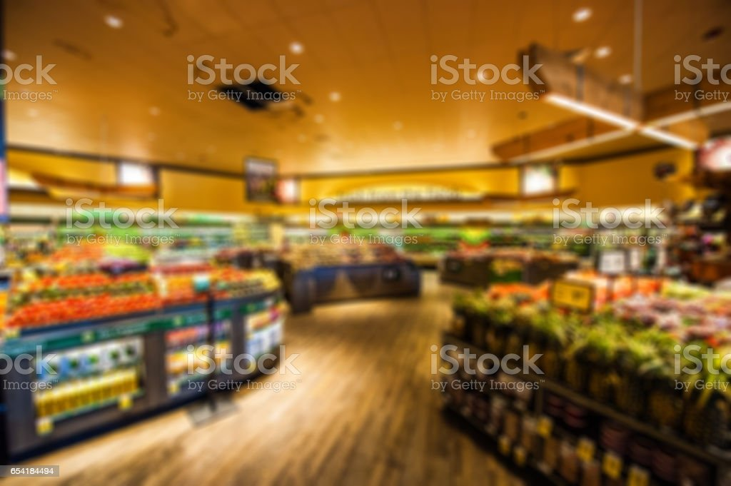 Interior supermarket stock photo