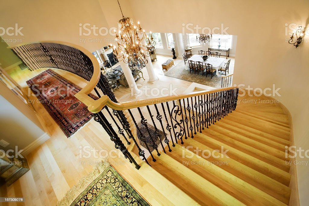 Interior View from Top of Stairs royalty-free stock photo