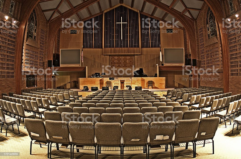 Interior View of a Church stock photo