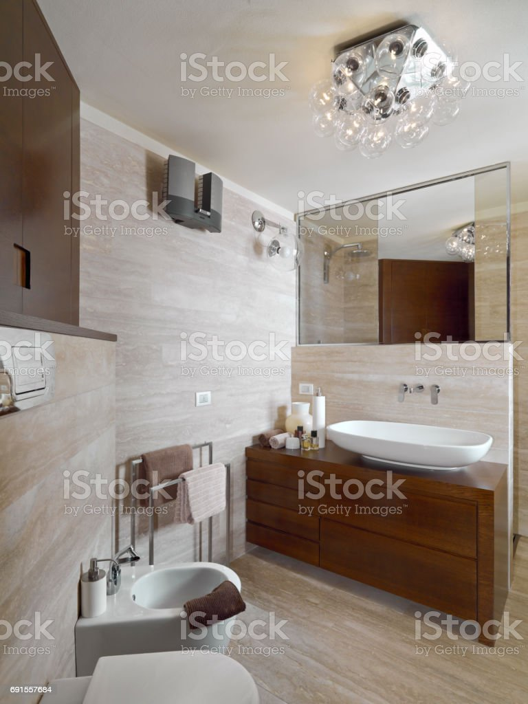 interior view of a modern bathroom, stock photo