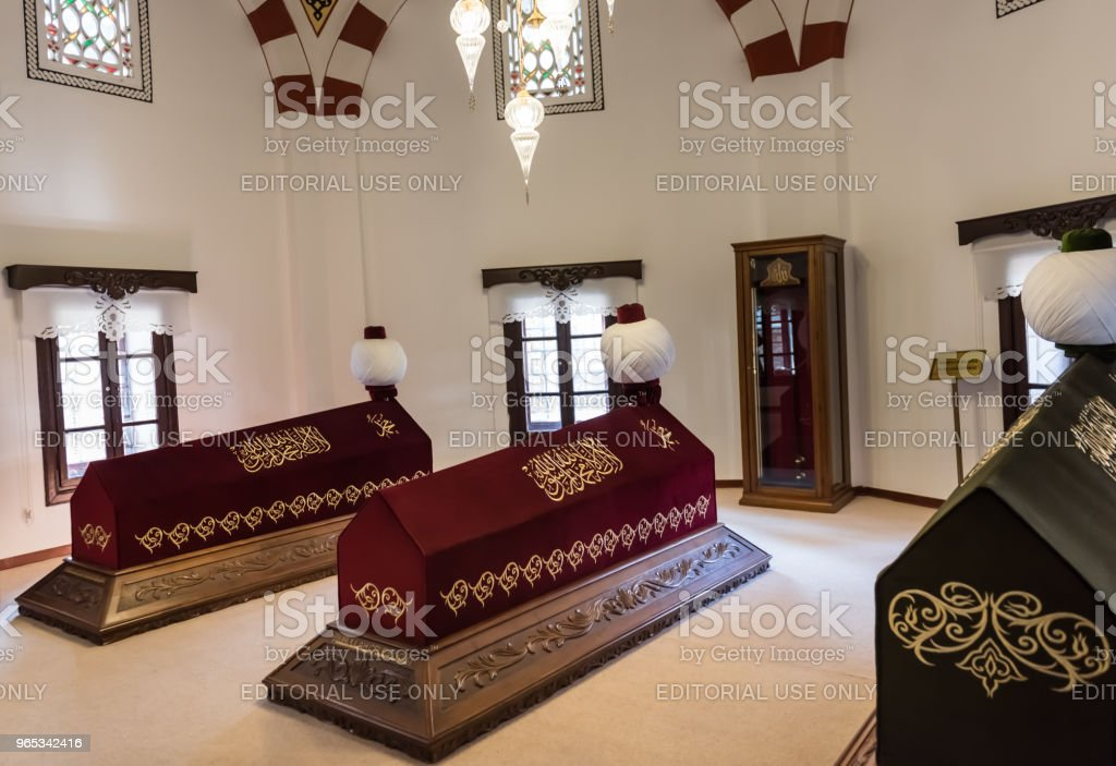 Interior view of Akshamsaddin tomb in Bolu,Turkey'n royalty-free stock photo