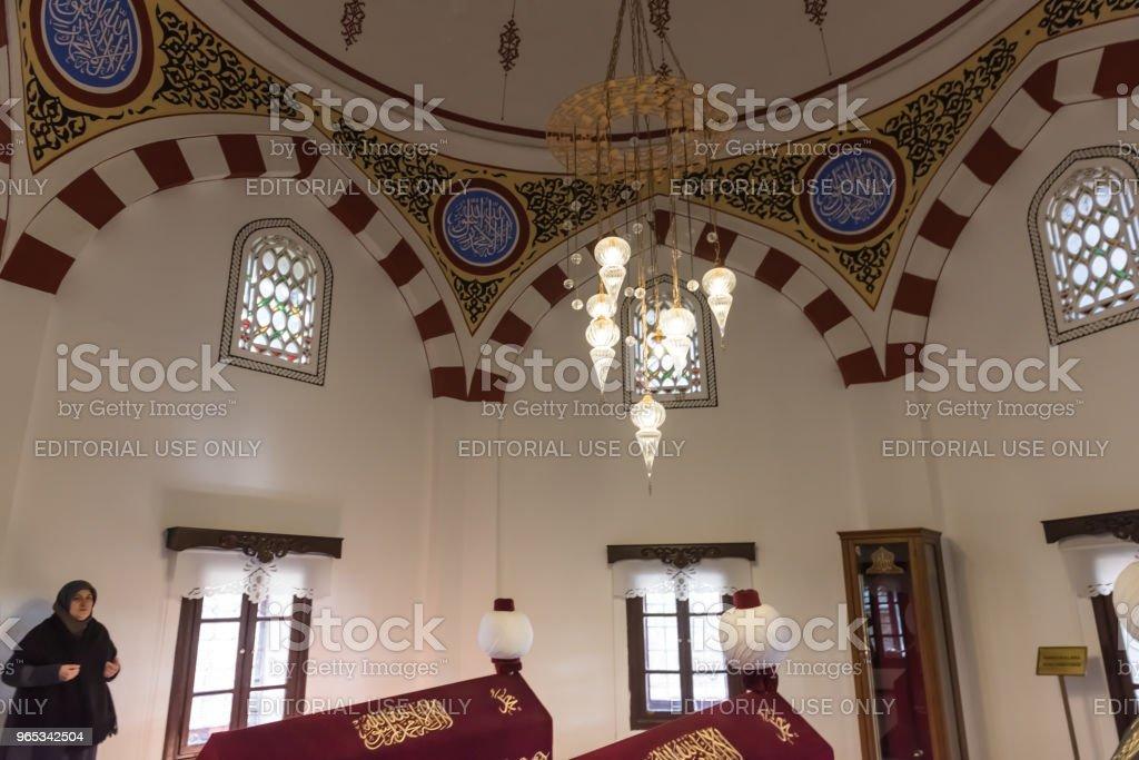 """볼 루, 터키 """"n Akshamsaddin 무덤의 내부 보기 - 로열티 프리 0명 스톡 사진"""