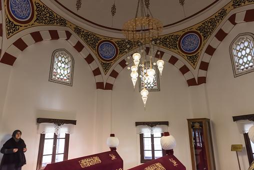 볼 루 터키 N Akshamsaddin 무덤의 내부 보기 0명에 대한 스톡 사진 및 기타 이미지