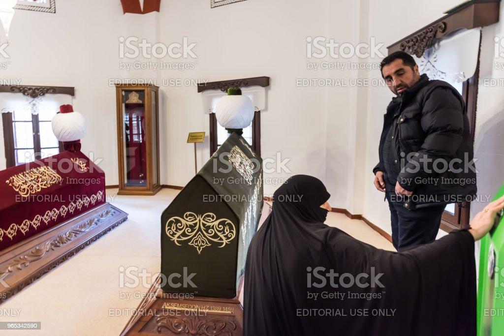 Interior view of Akshamsaddin tomb in Bolu,Turkey'n royalty-free stock photo