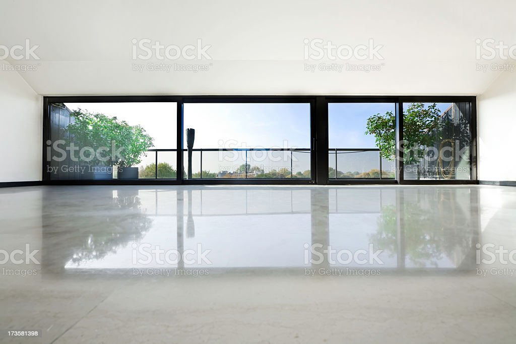 Interior view of an empty modern condo stock photo