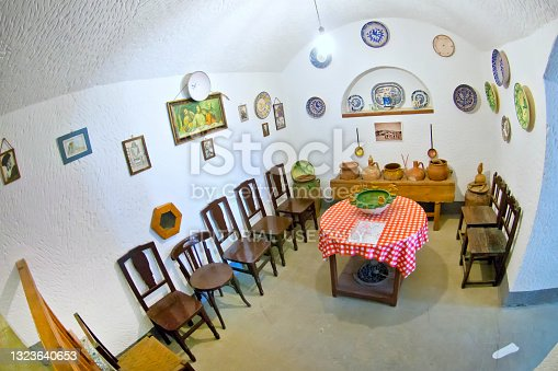 istock Interior View of Cave Dwellings, Purullena, Spain 1323640653