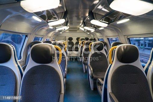 Interior view of Double-decker train.
