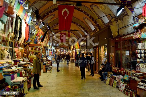 istock Interior view of Grand Bazaar in Istanbul 862422880