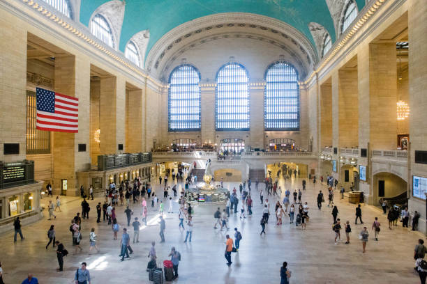 Interior view of Grand Central Terminal, NYC stock photo
