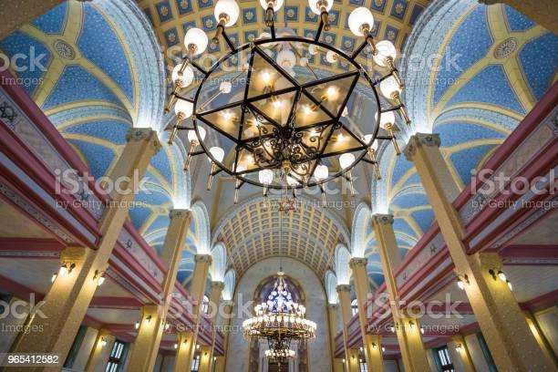 Foto de Vista Interior Da Grande Sinagoga De Edirne Turquia e mais fotos de stock de Antigo
