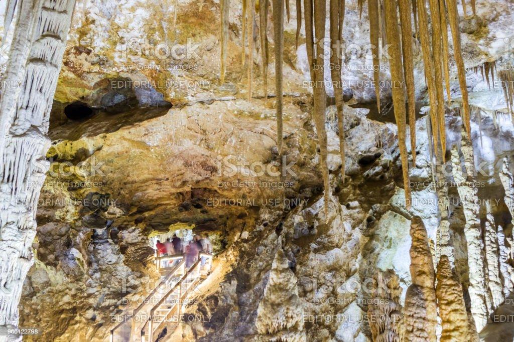 Interior view of Karaca cave located in Gumushane city,Turkey - Royalty-free Calcário - Rocha Sedimentar Foto de stock