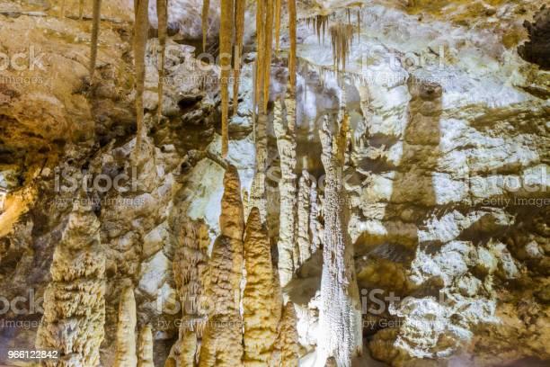 Interior View Of Karaca Cave Located In Gumushane Cityturkey - Fotografias de stock e mais imagens de Calcário - Rocha Sedimentar