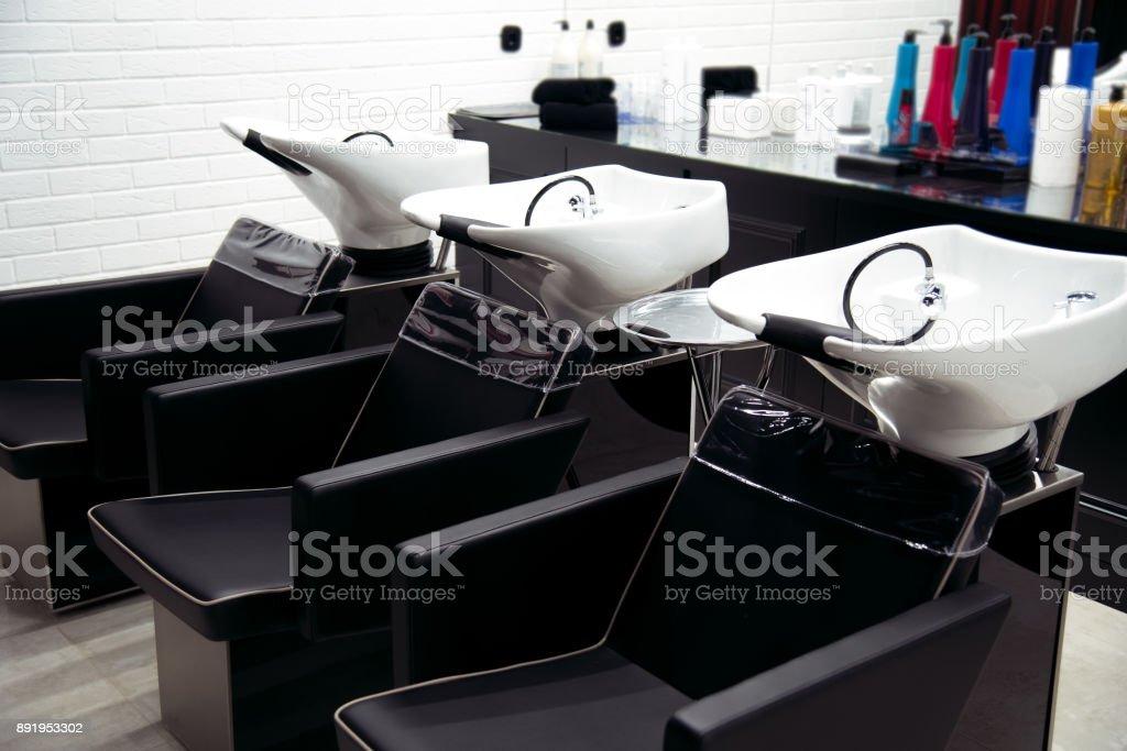 Innenansicht des Luxus Schönheit und Friseursalon salon – Foto