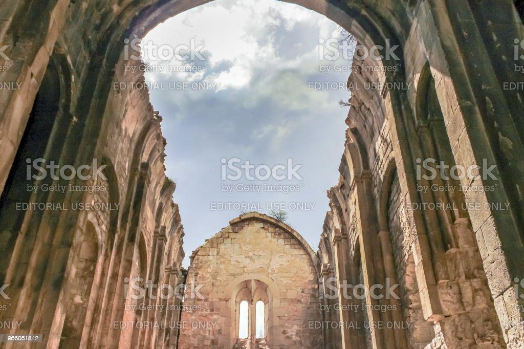 Binnenaanzicht van Oshki of Oshk Vank kerk - Royalty-free Antiek - Toestand Stockfoto