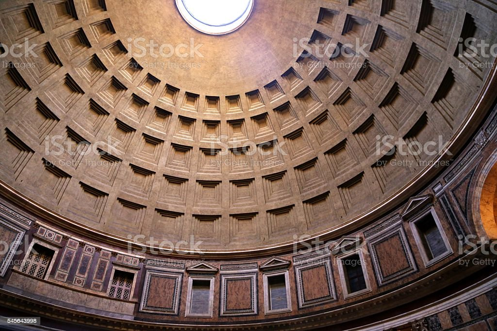 Interior View of Pantheon Dome stock photo