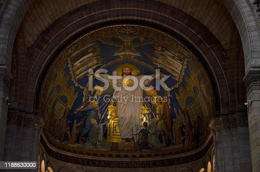 istock Interior view of Sacre Coeur Basilica at Monmartre, Paris, France, Europe 1188630000