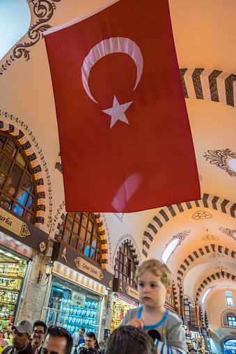 Binnenaanzicht Van Spice Of Egyptische Bazaar In Istanbul Stockfoto en meer beelden van Bazaar