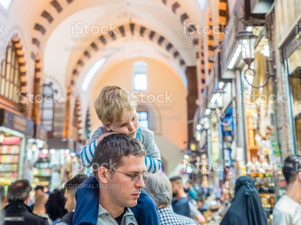 Innenansicht des Spice oder ägyptischen Basar in Istanbul - Lizenzfrei Alt Stock-Foto